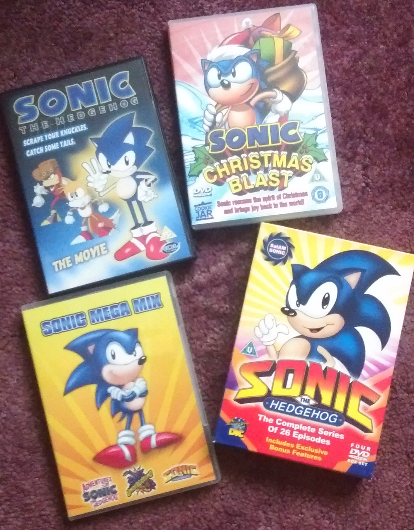 Sonic_DVDs